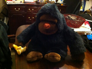 VARIOUS LARGE AND SMALL STUFFED ANIMALS.  PRICES IN AD
