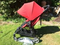 City mini zip pushchair stroller in red and black