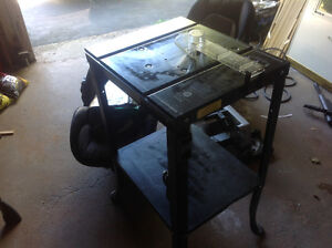 Heavy duty work table with a built in switch.