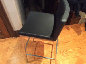 2 Brand New Bar Stools in unopened box -Black Seat w Metal Frame