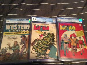 Selling Off 2 CGC Graded Golden Age Batman Comic Books