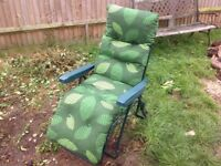 Garden reclining chair.