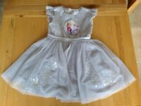 Girls Disney Store Frozen Dress Costume Princess Elsa & Anna Age 5-6 Years