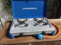 Two burner camping stove by Gaz