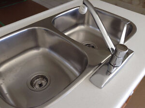 Stainless Steel double sink & faucet