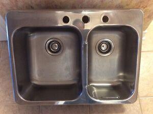 Sink & a half, Stainless Steel, 18 gauge