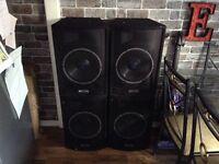 SPEAKERS 250 watt X4