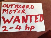 Outboard motor ..small 2 - 4 hp outboard