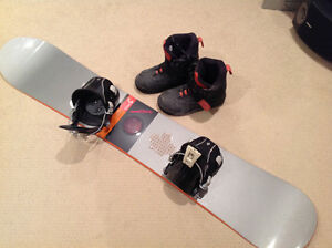 Burton 162 Custom, Bindings, and Boots size 11