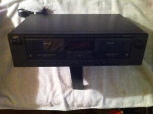 JVC Stereo Double Cassette Deck.