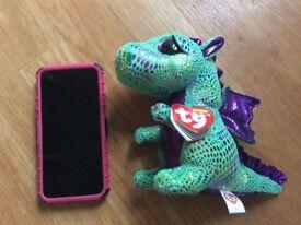 2 plush dragon TY plushes