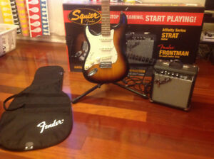 Squire guitar and amplifier pack, great for starters, almost new