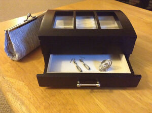 Jewelry Box + Unique Ring, Earrings, Clutch Purse