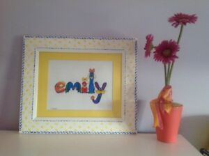 Picture -Hand painted Emily name picture