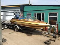 Glastron boat 115 mercury engine with trailer