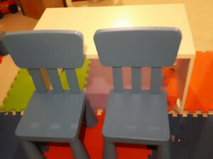 Kids Desk (ikea stuva) and chairs set