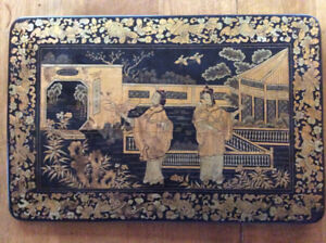 Old chinese wood painting