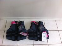 3 Body Glove Adult Lifejackets, 2 New and 1 Excellent Cond.