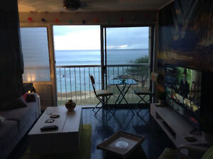 1 bed 1 bath ocean front condo in Makaha 300.00 off 2nd month.