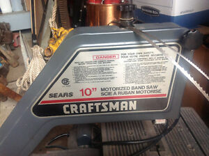 """Sears Craftsman 10"""" Motorized Band Saw with Two Extra Blades"""