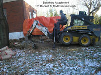 Skid Steer, Excavation, Bobcat, custom, demolition