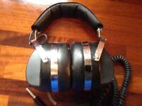 Headphones sharp retro