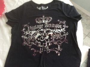 """New! AE Sport  """"Vintage Attitude"""" Black TShirt"""