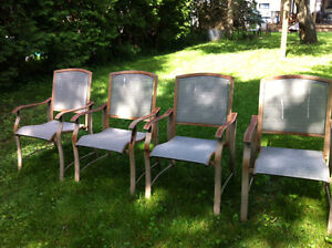 Set of patio chairs