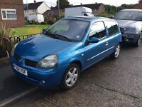 Renault Clio 1.2 16v Tax and Mot sale or swap motocross bike