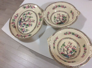 """J&G Meakin England """"Indian """"Street"""" platter and two bowls"""