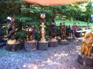 CUSTOM CHAINSAW CARVINGS FOR SALE