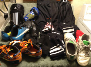 Soccer Equipment - Shoes, Sockets, Guards and Shorts