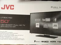 50 inch JVC SMART LED HD TV WITH BUILT IN WIFI £350 Ono BRAND NEW FRESH