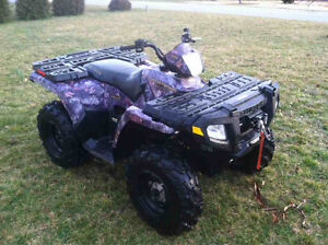 2006 Polaris Sportsman 500 EFI Browning Edition, comes with plow