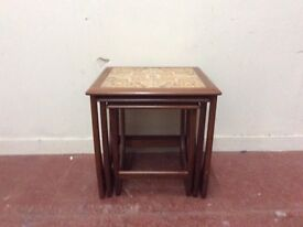 Tile top vintage teak gplan nest of tables