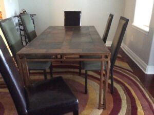 Dining Room table c 8 chairs and Sideboard