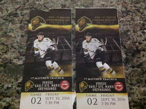 London Knights tickets lower bowl 2 seats