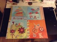 """set of 4 picture frames for kids 15"""" x 15"""""""