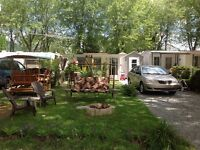 Roulotte/Chalet Camping Domaine Rouville