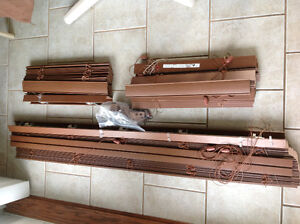 faux wood brown blinds