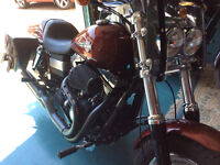 2009 Dyna FatBob, over $5,000 in extras.