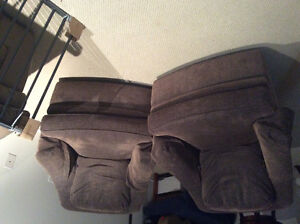 Two Comfortable Brown Swivel Chairs!