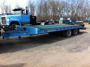 trailer a machinerie 20 tonnes
