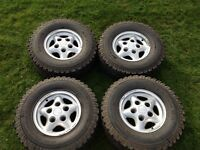 Land Rover freestyle alloys with BF Goodrich all terrain tyres.