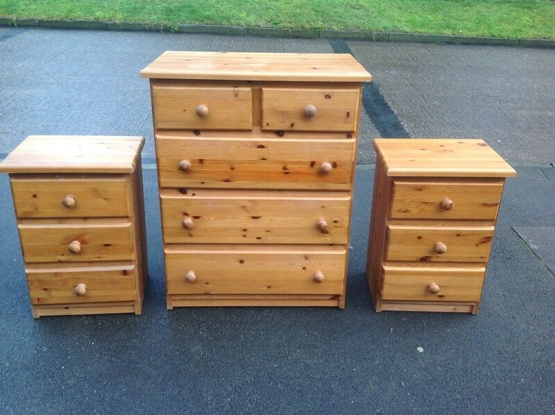 Solid Pine Tongue & Groove Bedroom Furniture Chest
