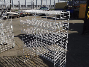 WHITE WIRE SHELVING HEAVY DUTY FOR DISPLAY REDUCED