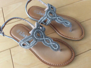 Worn once girls sandals size 11