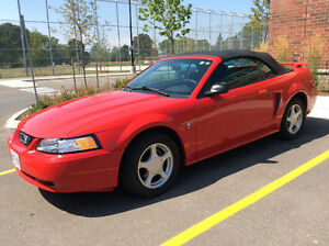2003 Ford Mustang Convertible - Red with Black top