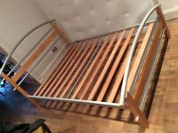Ikea style double bed frame