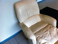 Small White Recliner